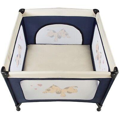 Parque para bebé cuna infantil de viaje portátil altura ajustable azul nuevo 2