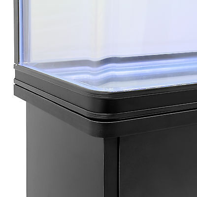 Fish Tank Cabinet Aquarium LED Light Tropical Marine Large Black 4ft 300 Litre 6