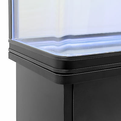 Fish Tank Cabinet Aquarium LED Light Tropical Marine Large Black 4ft 300 Litre 6