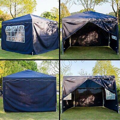 Klapp Falt Pavillon 3x3m WASSERDICHT Gartenzelt Partyzelt Pavillion Seitenteile 8