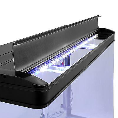 Fish Tank Cabinet Aquarium LED Light Tropical Marine Large Black 4ft 300 Litre 8