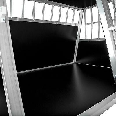 XXL Cage box caisse trapézoïdal de transport voyage pour chien mobile aluminium 4