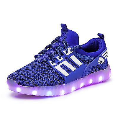 Children Boys Girls Running shoes Luminous Sneakers LED Light Up Kids LED Shoes