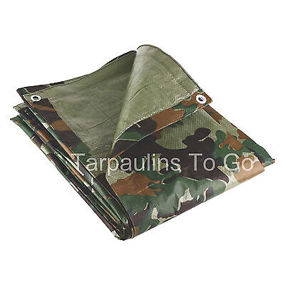 19 Sizes Waterproof Tarpaulin Ground Sheet Lightweight Camping Cover Tarp New 5
