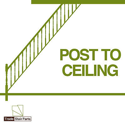 STAIRCASE KIT - LOWER BANNISTER - 2.4 metres - Post to Ceiling Traditional Pine 2
