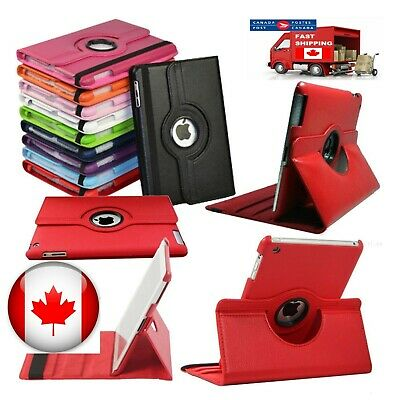 For iPad Case Cover Leather Shockproof 360 Rotating Stand ALL MODELS 4