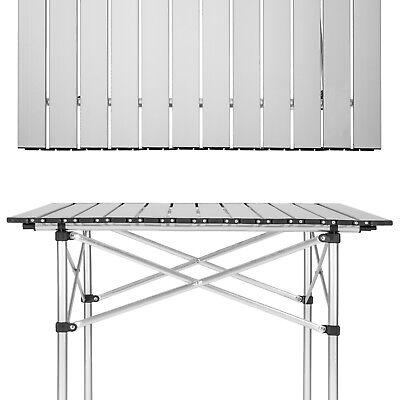 Tavolino Campeggio Pieghevole Alluminio.Tavolo Camper Campeggio Picnic Alluminio Pieghevole Arrotolabile 70x70x70cm Nuov