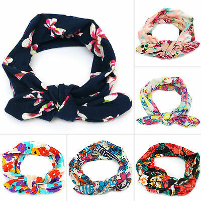 Newborn Kids Girls Headband Ribbon Elastic Baby Headdress Hair Band Bow Knot 3