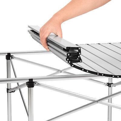 Table de camping de jardin pliable pliante en aluminium portable XXL 140x70x70cm 4