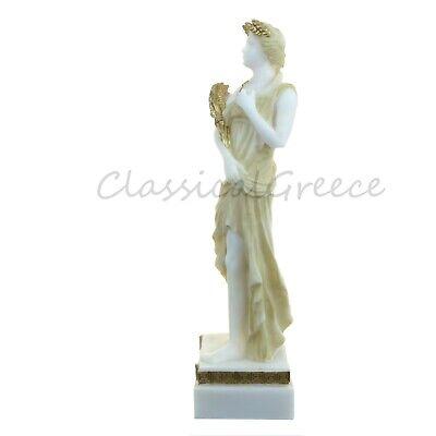 """Statue Ancient Greek Goddess Demeter Alabaster 9"""" - 23cm Cast Marble Mythology 3"""