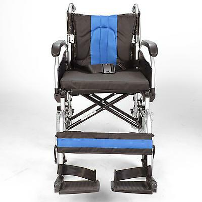 Lightweight deluxe folding transit aluminium travel wheelchair ECTR02-18