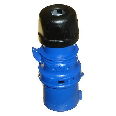16A 3 Pole Plug 240v IP44 Blue 1 Phase 2P+E IEC/CEE Caravan Trailer Garo 16 Amp 3