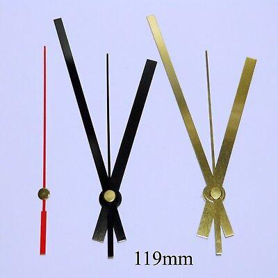 Quartz ticking clock movement, extra long 31mm shaft mechanism with hands. 10