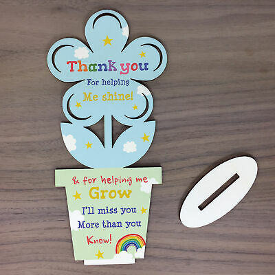 Thank You Wooden Flower Gift For Teacher And Assistant Leaving School Pre School 4