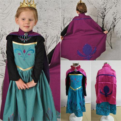 Frozen Elsa Kostüm Umhang Mädchen Kleid Prinzessin Kostüm Kinder Cosplay Party