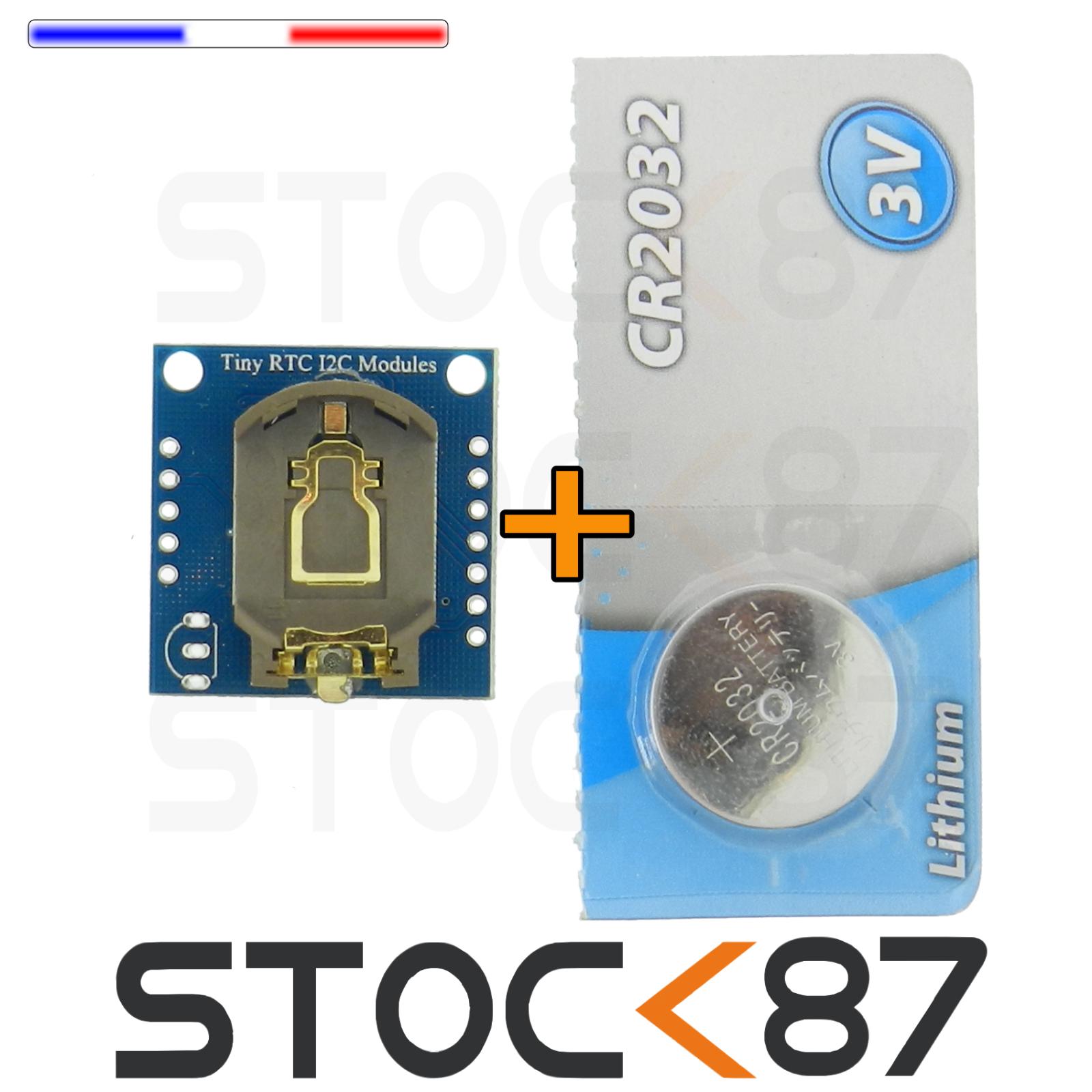 5107# Module DS1307 Horloge  Arduino Real Time Clock Tiny RTC I2C