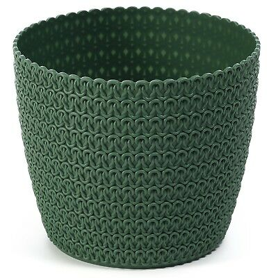 Plant pot cover indoor plastic rattan flower cover round modern decor planter 10