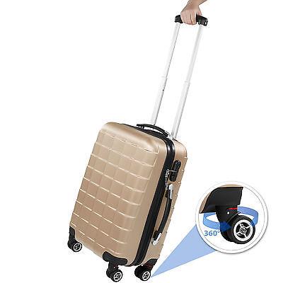 Set 3 piezas maletas ABS juego de maletas de viaje trolley maleta dura champán 2
