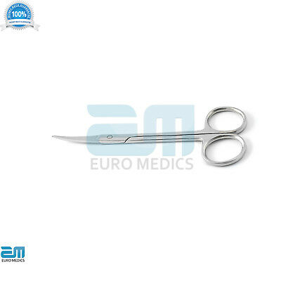 set of 5 Dental Goldman Fox Iris Scissors Double Straight and Double Curved Tool 5