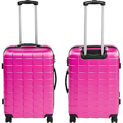 Set 3 piezas maletas ABS juego de maletas de viaje trolley maleta dura rosa 4