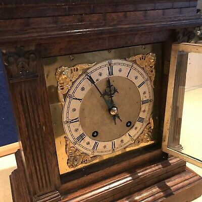 bracket clock Oak Cased W & H Superb 3