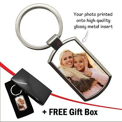 Personalised Photo Keyring Custom Birthday Wedding Image Logo Gift FREE Gift Box 4
