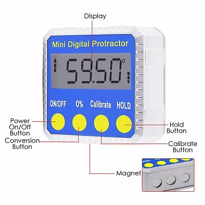 Digital BEVEL BOX Inclinometer Angle Gauge Meter Protractor 360° with Magnets 4