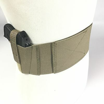 """Concealed Pull Through Sideload 4/"""" fits a Glock 42 Belly Band Gun Holster"""