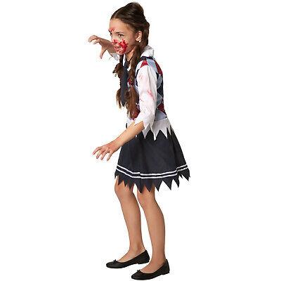 9e9cbd3d7f3 ... Déguisement pour Fille Écolière effrayante Carnaval Costume Halloween  Zombie 3