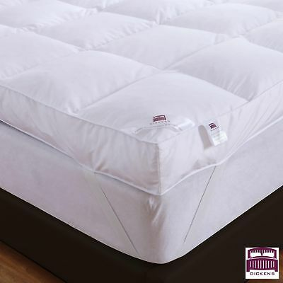 Goose Feather Down Mattress Topper Enhancer Luxury 10cm Deep Bed Protector Hotel 4