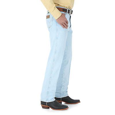 c5f02971 ... WRANGLER Mens Cowboy Cut Slim Fit Medium Wash Blue Denim Jeans IRREG  13MWZGH NWT 3