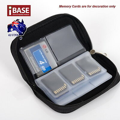 Memory Card Storage Carrying Pouch Case Holder SD SDHC CF Micro TF Wallet Bag 2