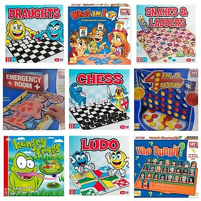 Classic Traditional Family Board Games Modern Kids Childrens Indoor Gift Toys 2
