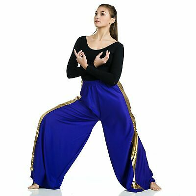 Praise Dance Pants Iridescent 2 color Reversible Lilac Rasberry ch//Plus szs New