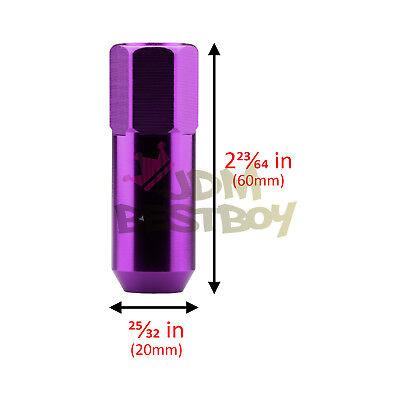 Purple 20 PCS M12X1.5mm Lug Nuts Extended Tuner Aluminum Wheels Rims Cap WN02 3