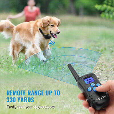 Dog Shock Training Collar Rechargeable LCD Remote Control Waterproof 330 Yards 9