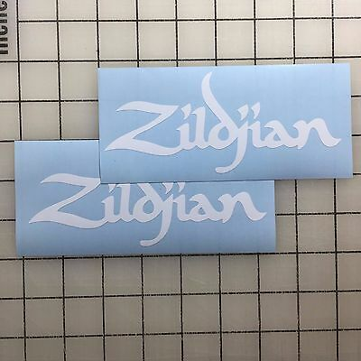 1 of 3free shipping zildjian cymbals logo 6 wide white vinyl decal sticker bogo