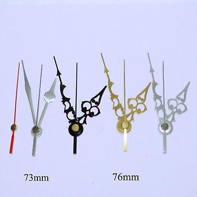 Quartz ticking clock movement, extra long 31mm shaft mechanism with hands. 6