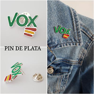 VOX PIN DE VOX PLATA DE LEY 925 ML ESPAÑA VOX ESPAÑA