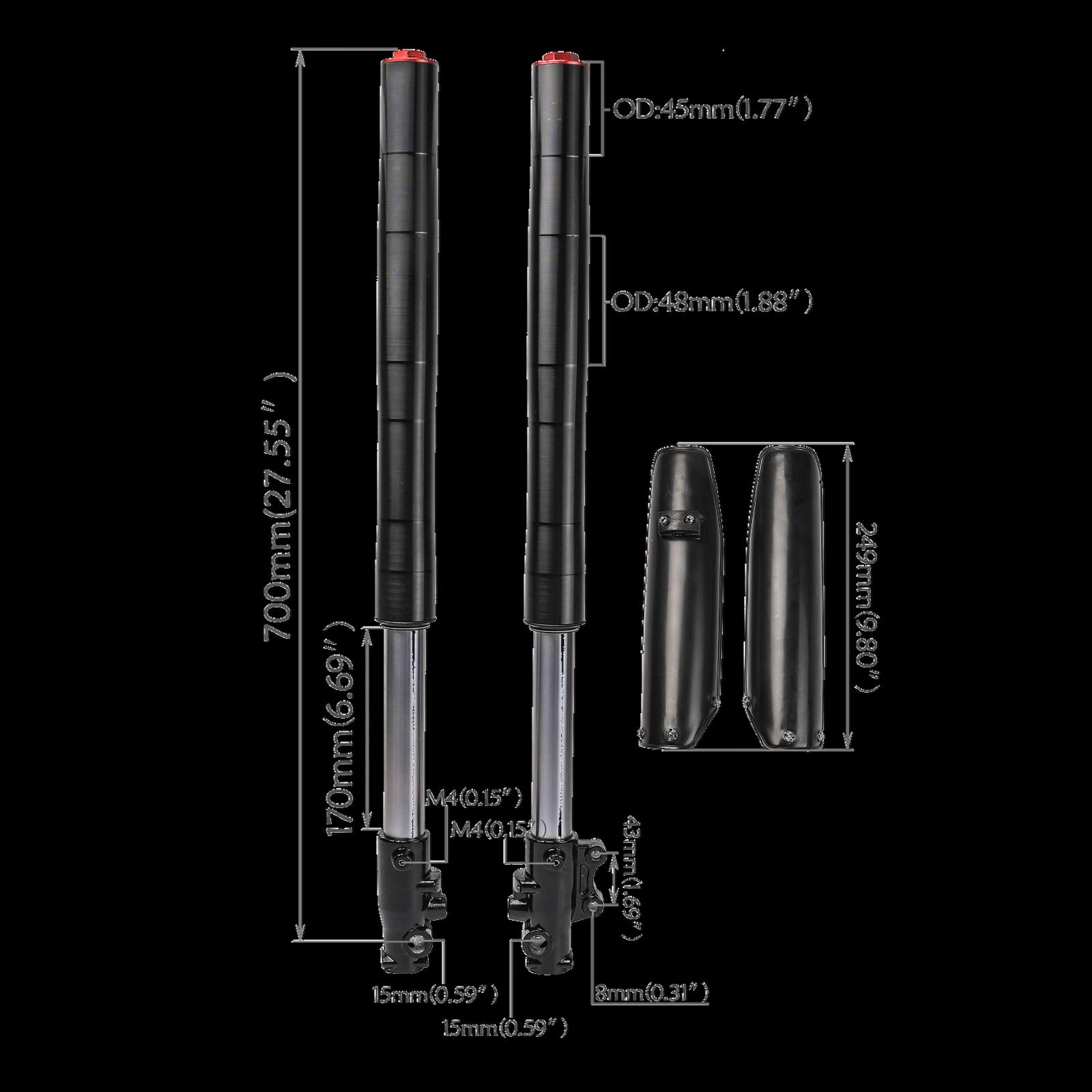 730mm 45//48mm Triple Tree bar 22mm Clamp Riser Front Fork Leg Shock Motorcycle