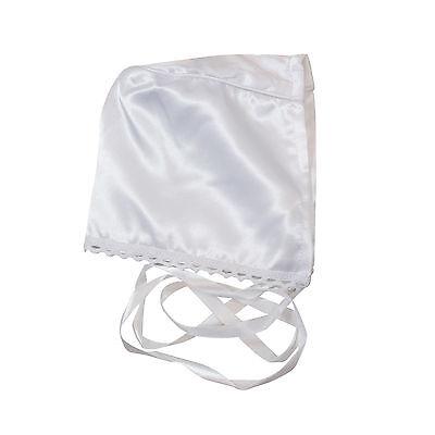 NEW Elegant Baby Girls Christening//Baptism Satin Gown Chiffon sz 00000-1 WHITE