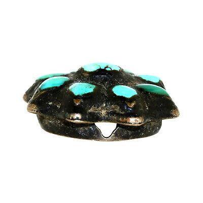 (2566) Antique Tibetan turquoises set in silver 3