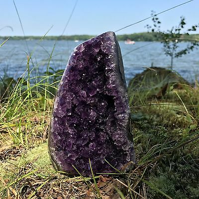 EXTRA LARGE POLISHED Amethyst Druze Crystal Cluster With Cut Base ~ 2 Pounds ea. 11