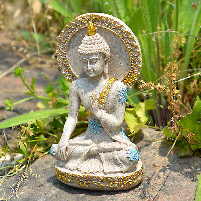 Thai Buddha Statue Home Decoration Resin Sandstone Yoga Meditation ZEN Sculpture 6