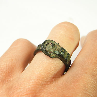 Bronze Ancient Ring Medieval Middle Ages Museum Quality 14th Century Religious