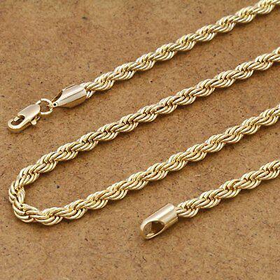"Men/'s 14k Gold Plated Blue Resin Buddha Pendant 5mm 24/"" Figaro Link Chain"