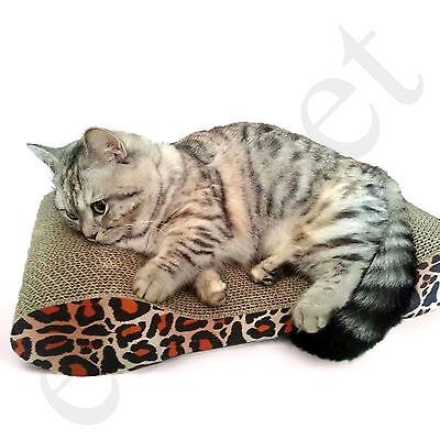 Cat Kitten Cardboard Corrugated Scratcher Scratching Pad Sofa Bed Board Mat 4
