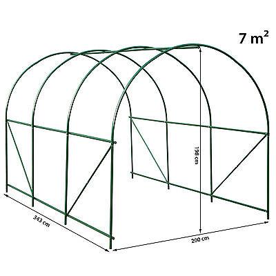 Invernadero de jardín vivero casero plantas cultivos carpa de plástico túnel 8