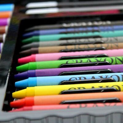 90pc Art Set Kids Watercolour Pens Crayons Pencils Sponge Scissors Oil Pastels 3