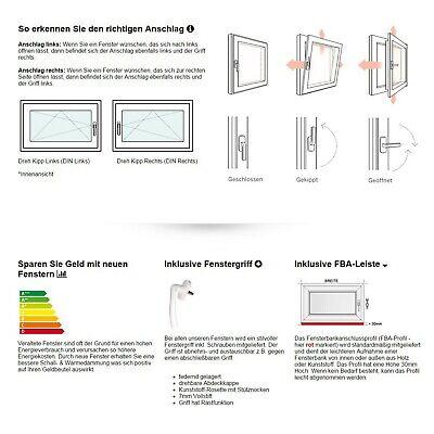 Kellerfenster Kunststoff Fenster 2 3 verglast Weiß Anthrazit Lager - ALLE GRÖßEN 12